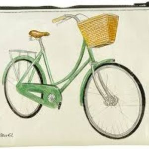 NWT Bicycles Zipper Pouch by Blue Q